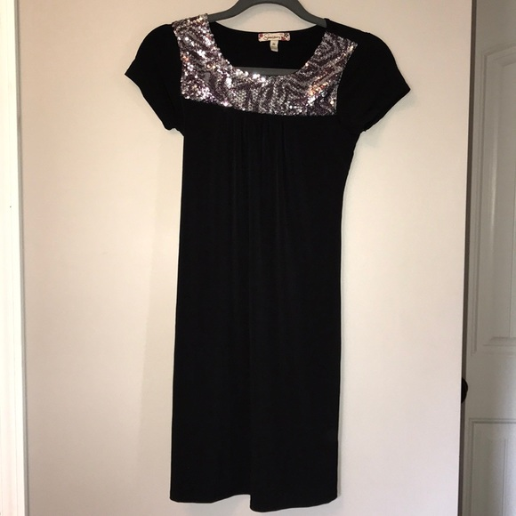 Speechless Other - Girls Black Dress with Sequins